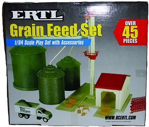 Grain Elevator Play Set Toy 1/64
