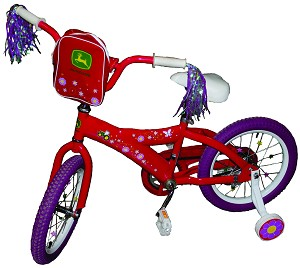 John Deere 16-inch Pink Girls Bicycle